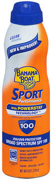 Banana Boat Sport Performance UltraMist Continuous Spray Sunscreen, SPF 100