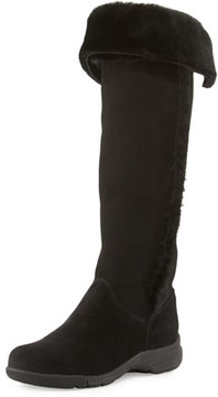 La Canadienne Tacey Suede Over-The-Knee Boot, Black
