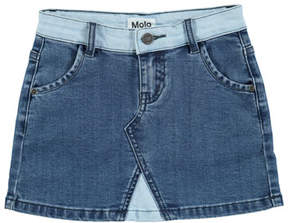 Molo Bel Collage Denim Mini Skirt, Size 3T-14