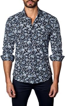 Jared Lang Men's Paisley Cotton Sportshirt