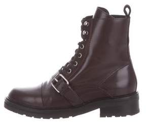 AllSaints Leather Combat Ankle Boots