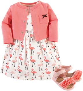 Hudson Baby Flamingo Sleeveless Dress Set - Newborn & Infant