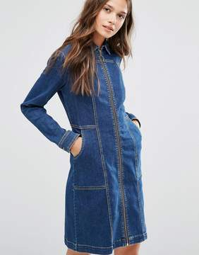 Gestuz Denim Dress with Zip