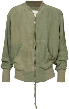 Greg Lauren pouch pocket zip cardigan