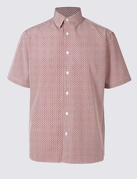 Marks and Spencer Easy Care Modal Printed Shirt