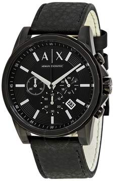Armani Exchange Banks Black Dial Black Ion-plated Men's Watch