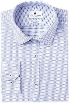 Ryan Seacrest Distinction Men's Slim-Fit Stretch Non-Iron Medium Blue Check Dress Shirt, Created for Macy's