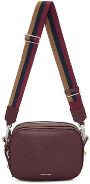 Carven Burgundy Reporter Bag