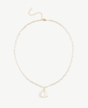 Ann Taylor Teardrop Charm Necklace