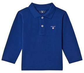Gant Blue Shield Long Sleeve Pique Polo