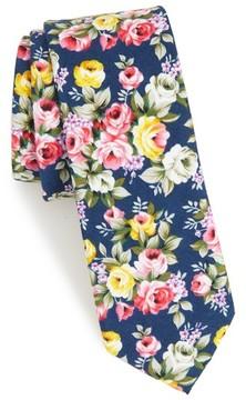 1901 Men's Jodie Floral Cotton Skinny Tie