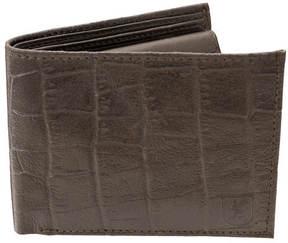 Stacy Adams Croco Embossed Bifold Wallet
