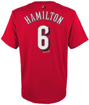 Majestic Boys 4-18 Cincinnati Reds Billy Hamilton Player Name and Number Tee