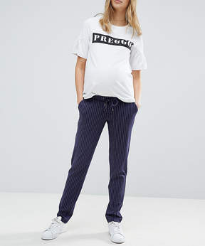 Mama Licious Mama.licious Mamalicious Pinstripe Relaxed Pants