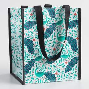 World Market Small Jolly Peacocks Tote Bags Set of 2