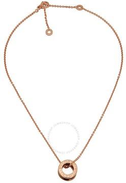 Bvlgari B.zero1 18k Rose Gold and Black Ceramic Pendant