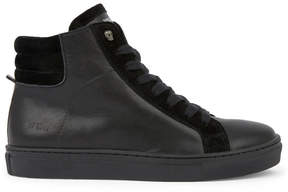 Zadig & Voltaire Leather high top trainers