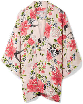 Elizabeth and James Drew Floral-print Chiffon Jacket - Baby pink