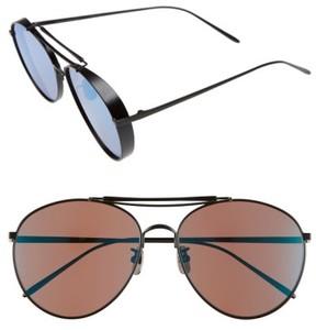 Gentle Monster Women's 60Mm Aviator Sunglasses - Matte Gold/ Silver Mirror