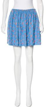Band Of Outsiders Silk Floral Print Skirt