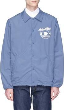 MAISON KITSUNÉ 'Bertil' logo print windbreaker coach jacket