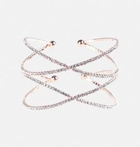 Avenue Stone Double Cross Cuff Bracelet
