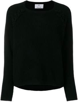 Allude lace detail ribbed sweater