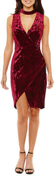 Bisou Bisou Sleeveless Velvet Sheath Dress