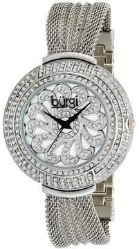 Burgi Silver-tone Steel Ladies Watch
