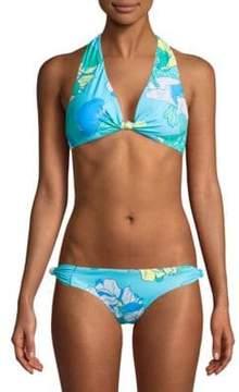 6 Shore Road Oceanfront Floral Bikini Top