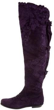 Ermanno Scervino Suede Over-The-Knee Boots