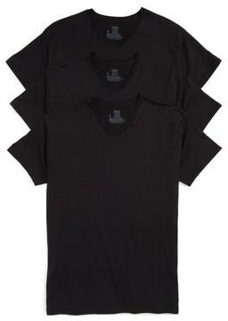 Hanes Men's Luxury Essentials 3-Pack V-Neck T-Shirt