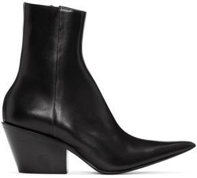 Haider Ackermann Black Chunky Boots