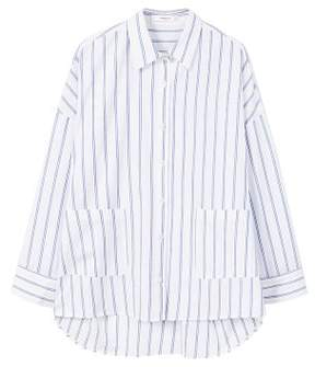 MANGO Pocket striped shirt