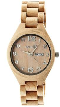 Earth Wood Sapwood Bracelet Watch.