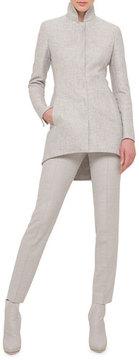 Akris Cashmere-Silk Stand-Collar Tailcoat Jacket