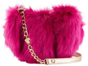 Betsey Johnson Faux-Fur Heart Crossbody Bag