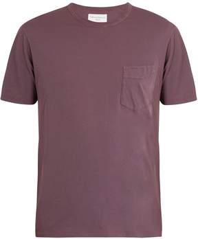 Officine Generale Asymmetric patch-pocket cotton T-shirt
