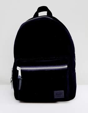 Herschel Grove Navy Velvet Backpack