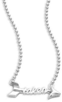 Alex Woo Little Words Sterling Silver Taken Necklace