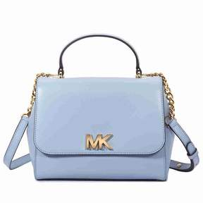 Michael Kors Mott Medium Leather Satchel- Pale Blue - PALE BLUE - STYLE