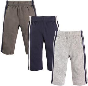 Hudson Baby Blue & Gray Track Pants Set - Newborn & Infant