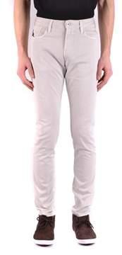 Armani Collezioni Men's Grey Cotton Jeans.