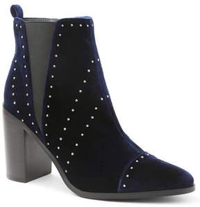 Kensie Delanie Studded Block Heel Bootie