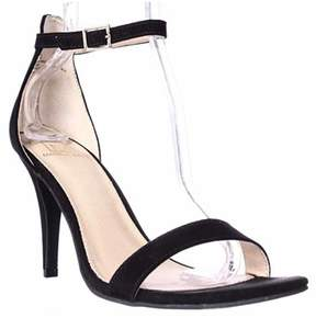 Material Girl Mg35 Blaire Ankle Strap Dress Sandals, Black.