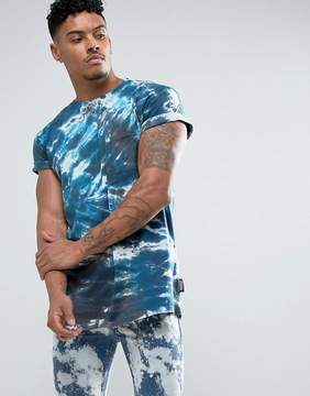 Jaded London T-Shirt In Blue Tie Dye