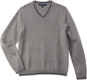 Brooks Brothers Boys' Grey Wool-Blend Sweater