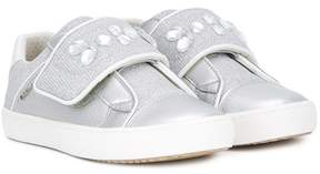 Geox embellished touch strap sneakers