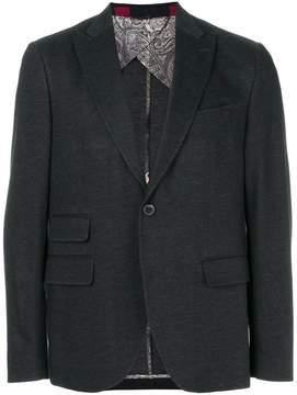 Etro peaked lapel blazer