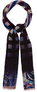 Etro Checkered & Paisley Scarf